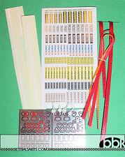 HIRO MFH 1/20 SEAT BELT HARDWARE & CLOTH RED & LOGOS for TAMIYA HASEGAWA AOSHIMA