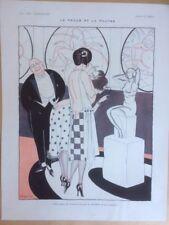 lithos art deco mode - la vie parisienne - 1920 - dessin de JAQUES   - 064