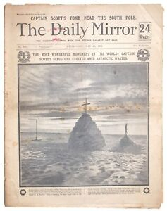 """""""Captain Scott's Tomb near the South Pole"""". Issue of the Daily Mirror 1913"""