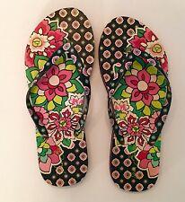 "Vera Bradley ""Petal Paisley"" Flip Flops Sandals M 7-8"