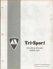 Reproduction Alsport Tri-Sport Parts List Manual RTS290 RTS340 #2