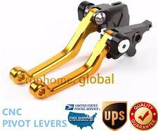 For Suzuki DRZ400S/SM 2000-2017 Clutch Brake Pivot Levers CNC Gold US Stock Pair