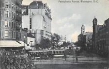 PENNSYLVANIA AVENUE WASHINGTON D.C. MEDICAL ADVERTISING POSTCARD (c. 1920s)