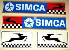 4 AUTOCOLLANTS >2  CHALLENGE SIMCA 37 x 7cm +GAZELLES SIMCA > Droite - Gauche