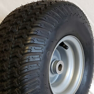 1) 15x6.00-6 15x600-6 15/6.00-6 15/600-6 Lawn Mower Tire Rim Wheel Assembly P41