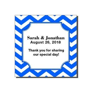 20 Personalized Wedding Bridal Shower Chevron Party Favor Labels Stickers
