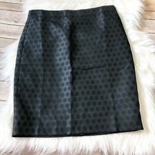 J.Crew Factory Black Pencil Skirt in Polka Dot Size 6