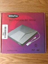 External Bluray DVD Drive, MthsTec USB 3.0 Type-C Blu-Ray bd slim DVD Burner 3d