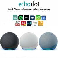 Amazon Echo Dot 4th Generation Smart Speaker Alexa - Black White Blue UK