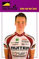 CYCLISME carte cycliste ARNO VAN DER ZWET équipe RUITER WIELERTEAM