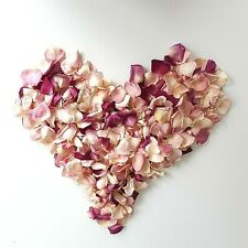 Freeze Dried Rose Petals. Mix of pinks.Lovely for decoration 5 cups.