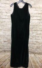 Vintage Crushed Velvet Dark Green Dress Custom Made No Tags