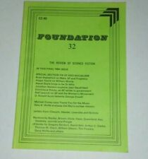 Foundation 32 The review of science fiction Uk Dr. Who 1984