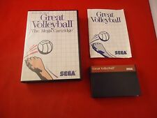 Great Volleyball (Sega Master System, 1987) COMPLETE w/ Box manual game WORKS!