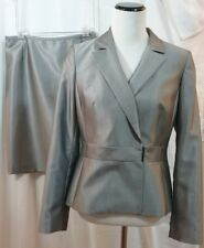 Calvin Klein Women's Gray Polyester Rayon 2 Piece Skirt Suit Sz 8 New with Tags