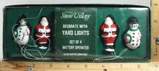 "Dept 56 Snow Village Series ""Decorate With Yard Lights"" Santa & Snowmen ""New"""