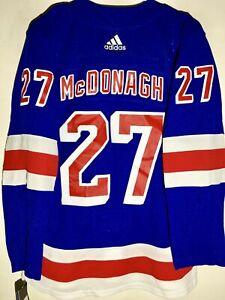 ADIDAS AUTHENTIC ADIZERO NHL NEW YORK RANGERS RYAN MCDONAGH BLUE JERSEY 50