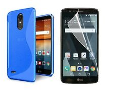 BLUE S-LINE TPU CASE+ CLEAR SCREEN PROTECTOR FOR LG STYLO 3 PLUS