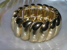 Stretch Goldtone Bracelet – will fit Estate Wide Simple but Classy Swirl Link