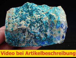 8146 Tyrolite Azurite Olivenite 6*6*10 cm Tangdan Mine China 2021 MOVIE
