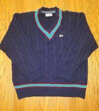 Mens Vintage Navy Blue Lacoste Izod Alligator Sweater Sz Small/Medium France WOW