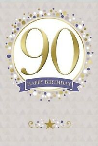 90 Happy Birthday Card. Great For Male or Female
