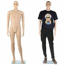 Realistic Male Mannequin Full Body Dress Form Display Plastic Head High White TO