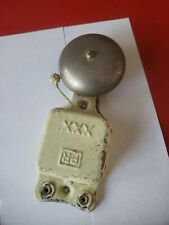 VINTAGE ELECTRIC STEEL / TIN DOOR BELL RINGER EXPONENT RARE COLLECTABLE