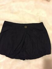 Hot and Delicious Black Lined Dressy Bubble Short Shorts, Size Small NWT
