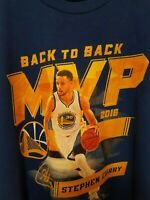 Stephen Curry Golden State Warriors MVP Back to Back NBA Fanatics T Shirt Sz 3XL