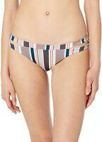RVCA Women's 243667 Creme Off Shore Cheeky Bikini Bottoms Swimwear Size M