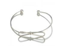 Silver bangle - Elegant cuff Bow silver design bangle