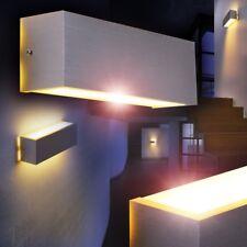 LED Lámpara de pared diseño moderno color aluminio pantalla blanca salón pasillo