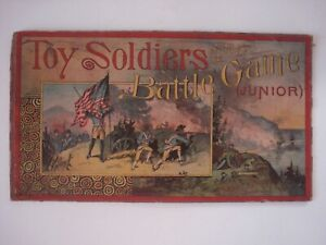 Antique Toy Soldiers and Battle Game Junior  1910  Parker Brothers