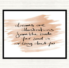 Watercolour Dreams Are Illustrations Quote Mouse Mat Pad