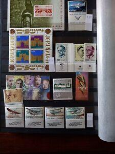 ISRAELE, piccolo lotto francobolli e foglietti, 3 foto