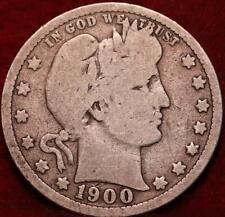 1900 Philadelphia Mint Silver Barber Quarter