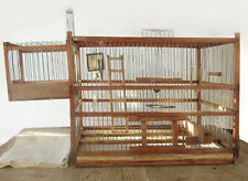 New listing Old Wood Bird Cage/Trap Cage+Nesting Box, Hand Crafted Bird Toys, & Sliding Tray