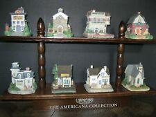 Liberty Falls Americana Collection 8 buildings & display shelf