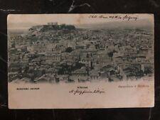 1919 Greece RPPC Postcard Cover PPC To Czechoslovakia Athens Panoramic View MXE