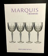 Marquis by Waterford Brady Crystalline Wine Water Glasses Goblets Set of 4 EUC