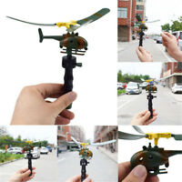 Pull String Handle Helicopter Plane Aircraft Drone Outdoor Flying Kids Toy Gift