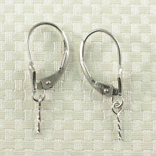 Pair of 14k Solid White Gold Leverback Findings Good for Dangle Earring DIY