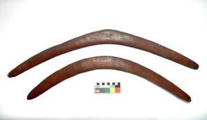 2 Antique Old Australian Aboriginal Boomerangs NSW ?