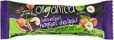 2x40g Organica Hazelnut Nougat Delight Chocolate Snack Bars (Vegan, Gluten Free)