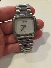 NIXON THE PLAYER White Dial 100M Yes It's Real Stainless Steel Quartz Mens WATCH