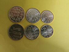 1+2+5 Euro cent Münzen Griechenland und Portugal  6 Münzen