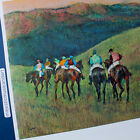RACEHORSES EDGAR DEGAS POSTER SPAIN EQUESTRIAN HORSE RACING LITHOGRAPH