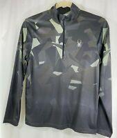Spyder Mens Camo Long Sleeve Quarter Zip Golf Pullover Shirt Sweater M
