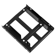 """Two 2.5"""" to 3.5"""" SSD HDD Metal Adapter Mounting Bracket Hard Drive Holder for PC"""